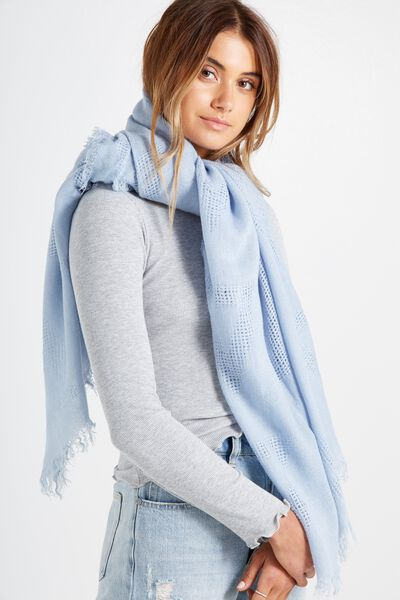 Tri Mid Weight Scarf, BABY BLUE