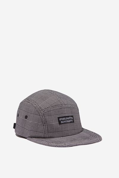 5 Panel Cap, GREY CHECK/WORLDWIDE INSIGHT