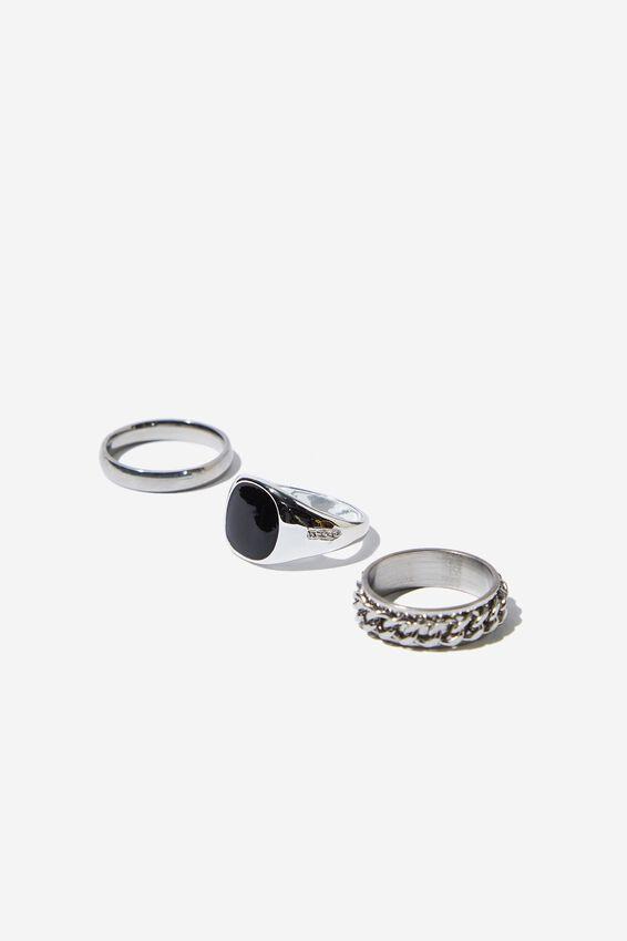 Rings 3 Pack, SILVER 1