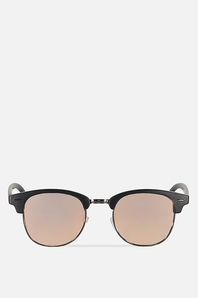 Smooth Operator Sunnies, MATTE BLACK/SMOKE ROSE GOLD