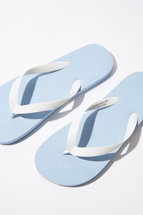 Bondi Flip Flop, LIGHT BLUE/WHITE
