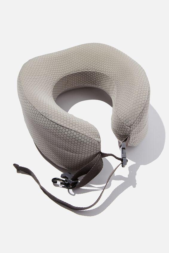 Memory Foam Neck Pillow, GREY