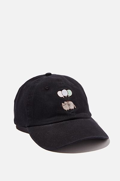 Special Edition Dad Hat, LCN PUSH BLACK/PUSHEEN BALLOONS