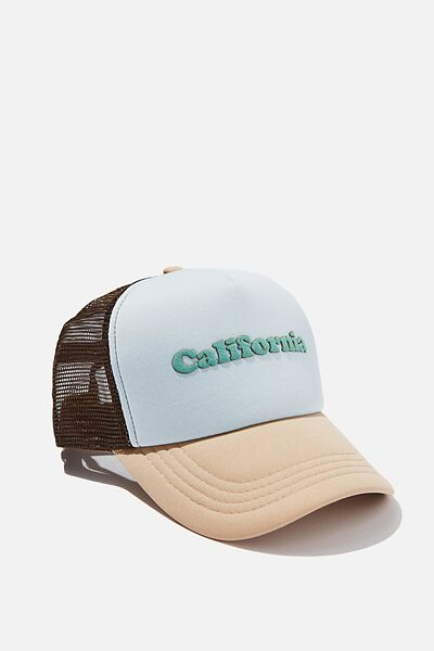 Wicked Print Trucker, PALE BLUE/SAND/BROWN/CALIFORNIA
