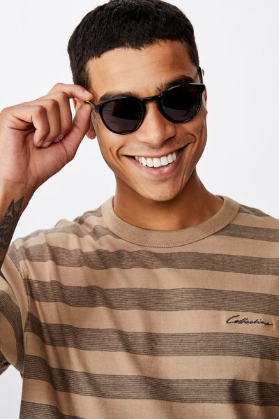 Lorne Sunglasses, BLACK GLOSS/SMOKE