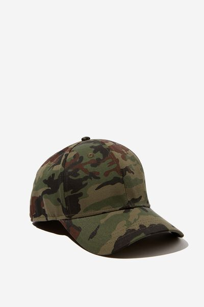 Outfield Fitted Cap, CAMO