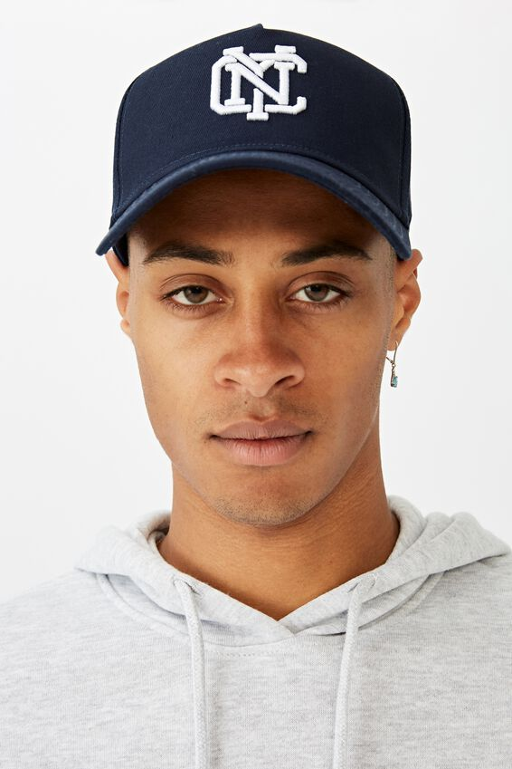 Curved Peak Snapback, NAVY/WHITE/NYC