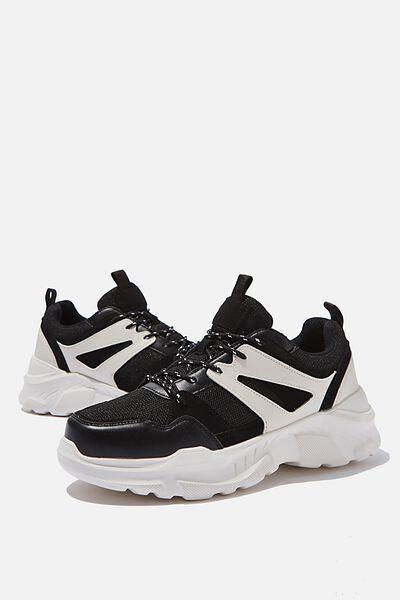 Oskar Chunky Sneaker, BLACK/WHITE