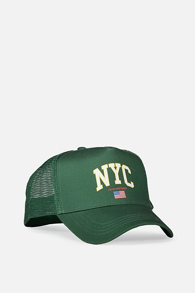 Wicked Print Trucker, POSY GREEN/NYC SPORTSWEAR