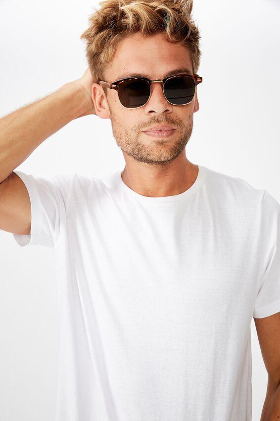 Leopold Sunglasses, TORT GOLD GREEN