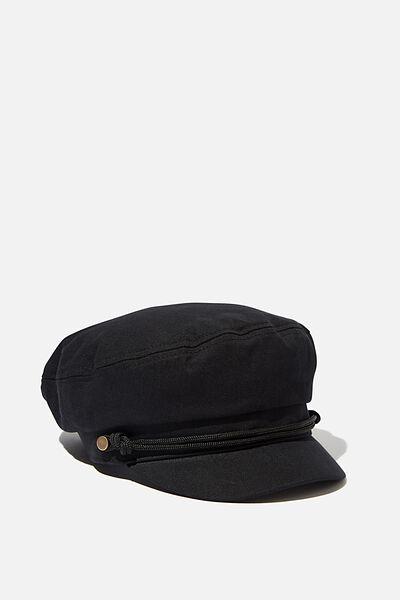 Fishermans Cap, BLACK TWILL