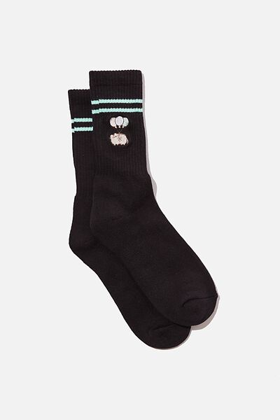 Single Pack Active Socks, LCN PUSH BLACK/PUSHEEN BALLOONS
