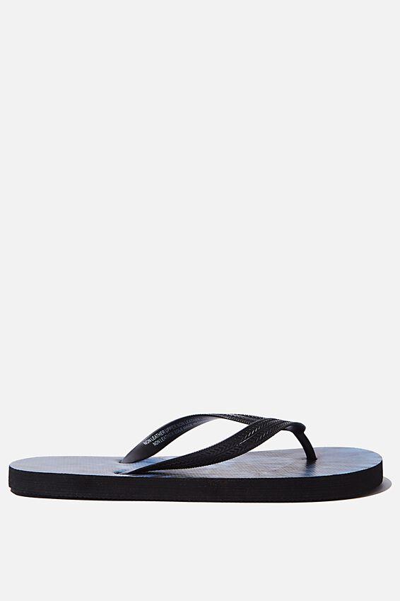 Bondi Flip Flop, BLACK/STEEL BLUE/TIE DYE