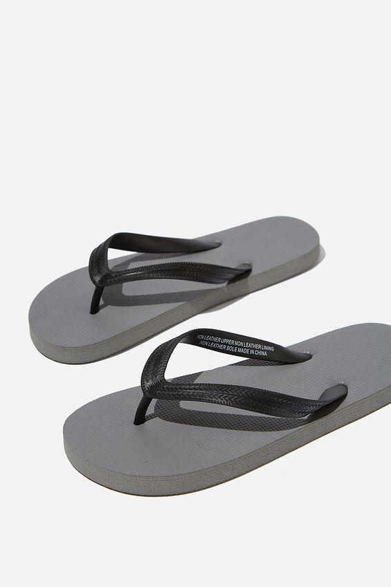 Bondi Flip Flop, GREY/BLACK