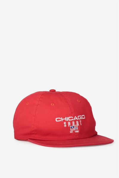 6 Panel Lad Hat, CHICAGO/VIVA RED