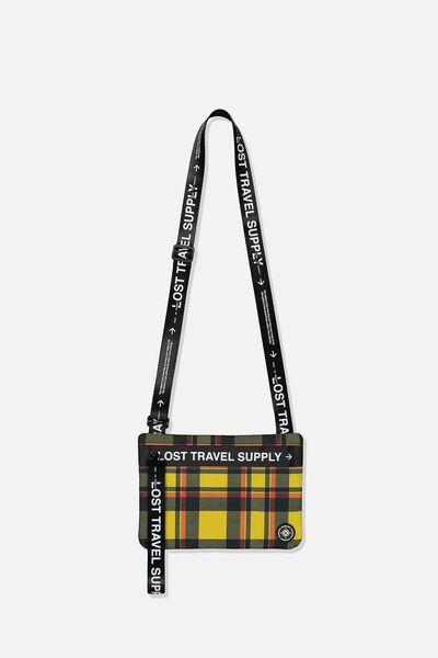 Wwkd Cross Body Messenger Bag, PLAID COATED