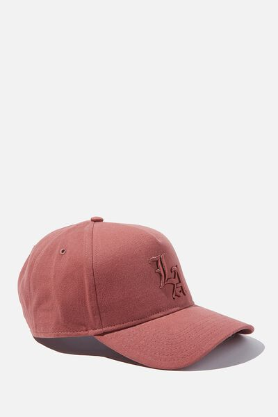 Curved Peak Snapback, DUSTY ROSE/TONAL/LA