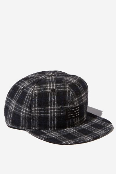 Art Snapback, BLACK/WHITE PLAID/WEEKEND STUDIO