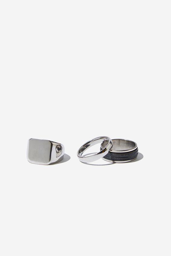 Rings 3 Pack, SILVER 2