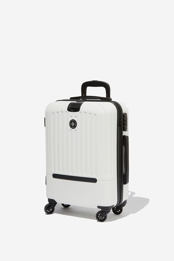 Sml 19Inch Hard Suitcase, WHITE/BLACK