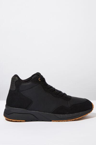 Marcel Sneaker Boot, BLACK