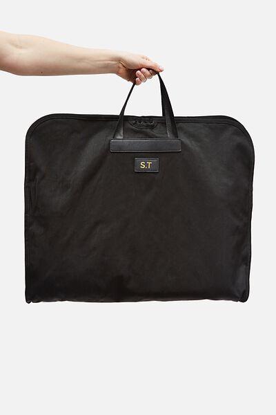 Personalised Suit Bag, BLACK