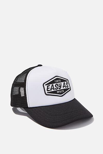 Wicked Print Trucker, BLACK/WHITE/EASY AS