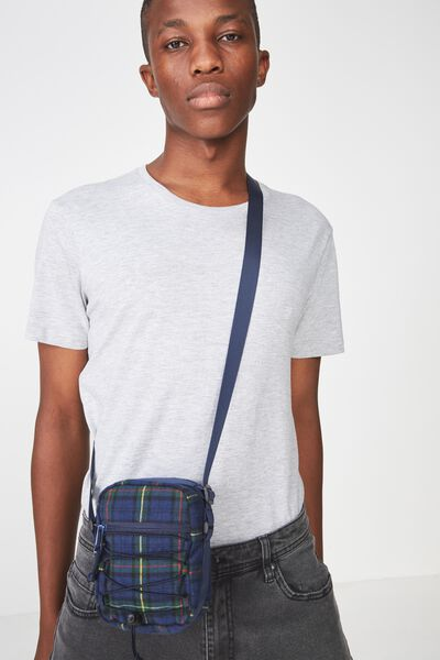 Crossbody Pouch, BLUE/GREEN/RED CHECK