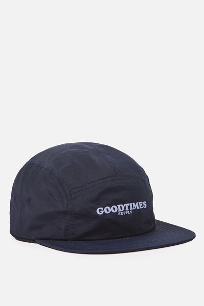 5 Panel Cap, NAVY/GOODTIMES SUPPLY