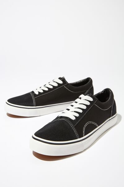 Axell Skate Shoe, BLACK/WHITE