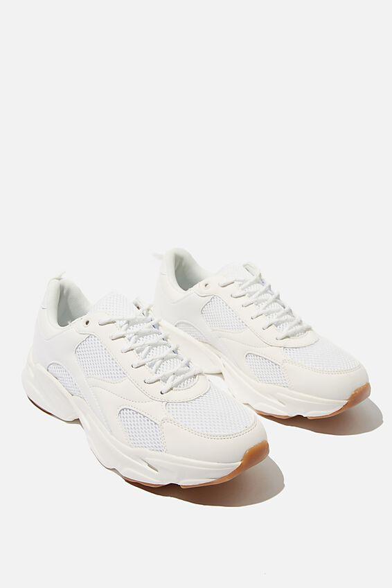 Joel Chunky Sneaker, WHITE/GUM