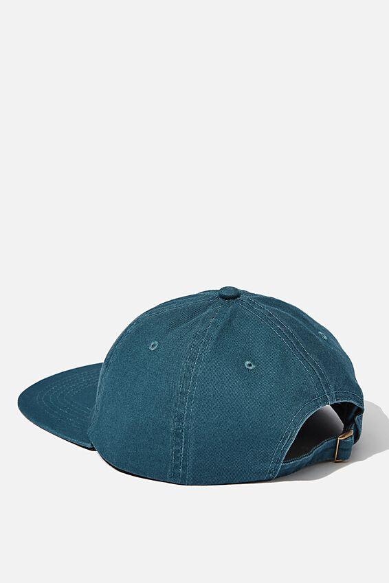 6 Panel Hat, TEAL /NYC SCRIPT