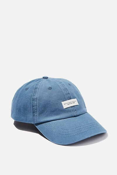 Strap Back Dad Hat, STEEL BLUE/WEEKEND STUDIO