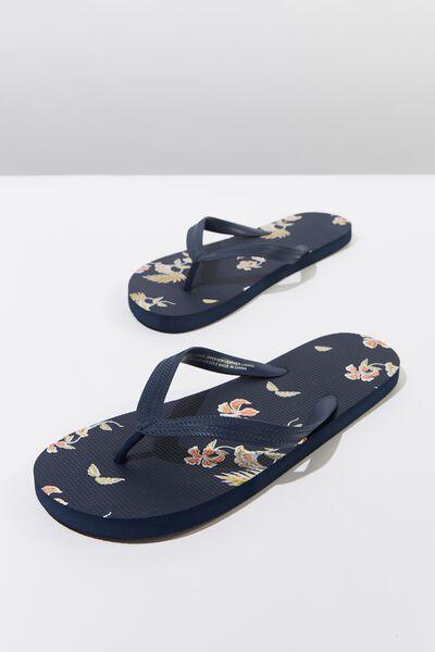 Bondi Flip Flop, NAVY/ORANGE TROPICS
