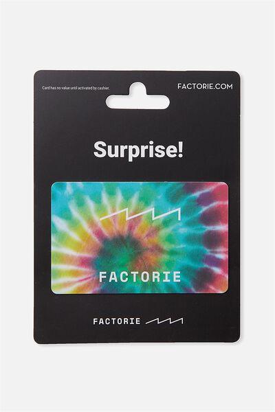 Factorie $50 Gift Card, TYE DYE