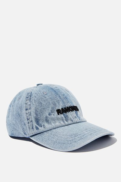Special Edition Dad Hat, LCN MT WASHED BLUE DENIM/BLACK/THE RAMONES