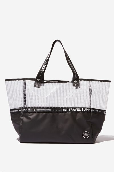 Wwkd Oversized Tote, FROSTED CLEAR GRID