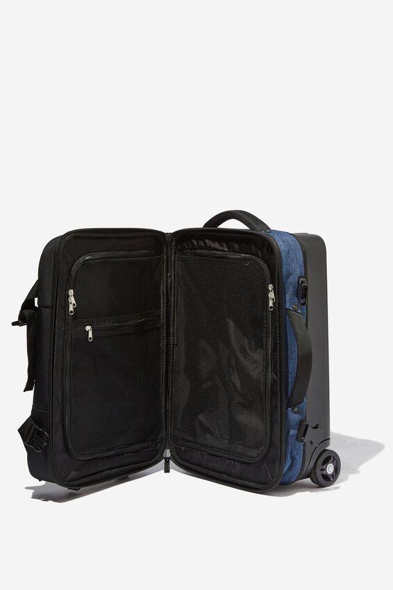 Sml Soft Suitcase, BLACK/NAVY