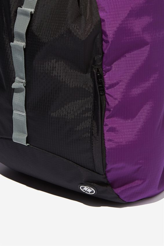 Explore Drawstring Bag, PURPLE/BLACK/GREY