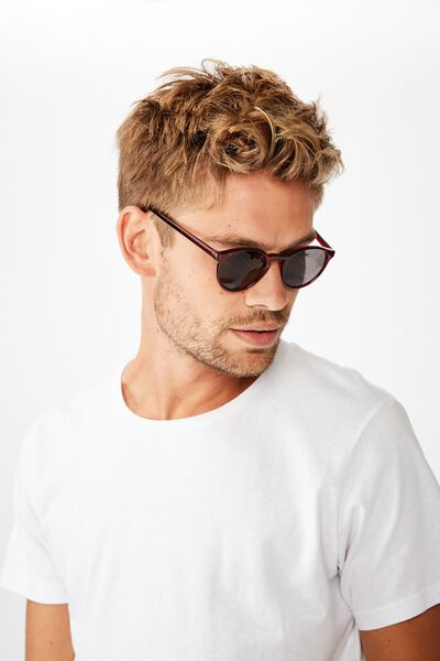 Lorne Sunglasses, RED/SMOKE
