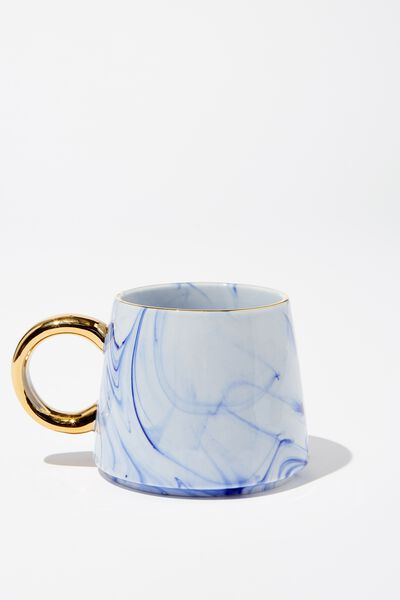 Serene Mug, BLUE MARBLE