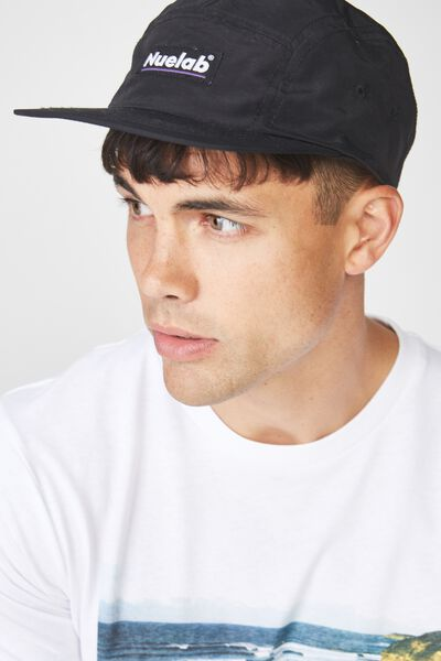 5 Panel Cap, BLACK/NUELAB