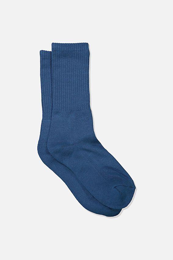 Single Pack Active Socks, CORAL BLUE