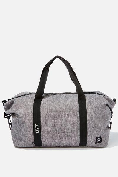 Personalised Transit Duffle Bag, GREY CROSSHATCH