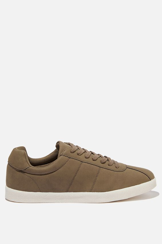 Mateo Retro Trainer, BROWN PU/OFF WHITE