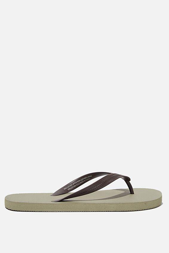 Bondi Flip Flop, TAUPE/CHOCOLATE