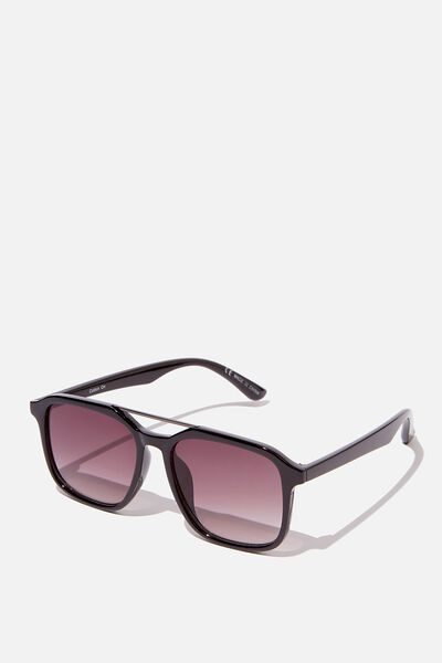 Armstrong Sunglasses, BLACK/GUNMETAL/PURPLE SMOKE