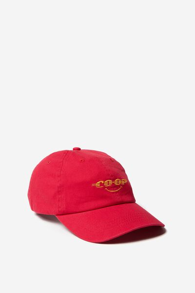 Strap Back Dad Hat, STRONG RED/CO-OP