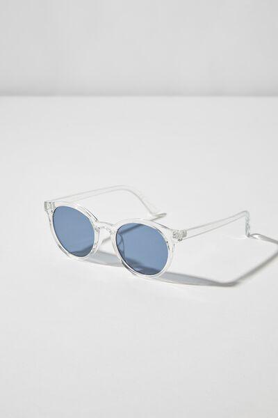 Clifton Sunglasses, CRYSTAL/BLUE