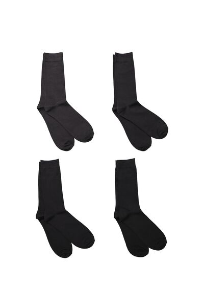 Multi Pack Staple Socks, BLACK